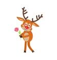 Deer in Love cartoon flat vector image vector image