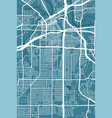 detailed map fort worth city linear print map vector image