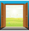 Doors to Nature vector image vector image