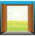 doors to nature vector image vector image