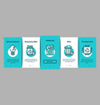 electrical waste tools onboarding elements icons vector image