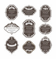 elegant premium labels set collection vector image vector image