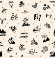 extreme sports seamless background doodle vector image vector image