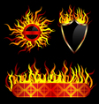fiery templates vector image vector image