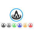 fire location rounded icon vector image