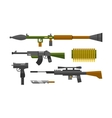 Flat weapons vector image vector image