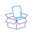 folder document in box vector image vector image