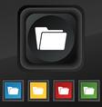 Folder icon symbol Set of five colorful stylish vector image