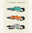 futuristic weapon vector image vector image