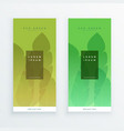 green eco leaves banners design vector image vector image