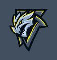 grey dragon esport vector image