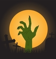 halloween background zombie hand vector image vector image