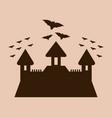 halloween castle icon vector image vector image