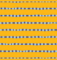 hand drawn horizontal stripes yellow gold blue vector image vector image