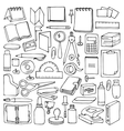 Hand drawn Office set vector image vector image