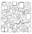 Hand drawn Office set vector image