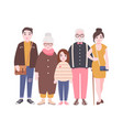 happy family with grandfather grandmother father vector image vector image