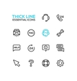 Help Center - Thick Single Line Icons Set vector image vector image
