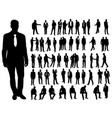 isolated a collection silhouettes men vector image vector image