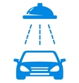 isolated blue car wash icon vector image vector image