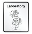 Laboratory Information Sign vector image vector image