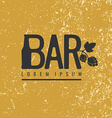 Logo bar Sign design poster advertising elements vector image