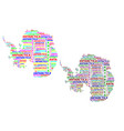 map of continent antarctica vector image vector image