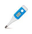 Medical Thermometer on White Background vector image vector image