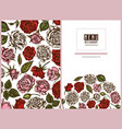 menu cover floral design with colored roses vector image vector image
