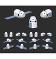 Modern reusable spaceship vector image vector image