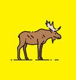 moose line icon vector image vector image