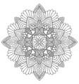 ornamental mandala art design unique vector image vector image