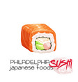 philadelphia sushi vector image vector image