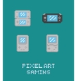 Pixel art retro video game vector image vector image