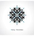 pixel snowflake vector image vector image