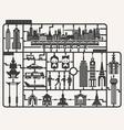 plastic model kits required set bangkok city vector image vector image