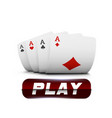 playing cards for poker in casino gambling vector image vector image