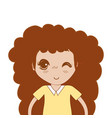 pretty girl with hairstyle and casual wear vector image vector image