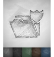 protection icon Hand drawn vector image vector image