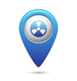 Radioactive icon on blue map pointer vector image vector image