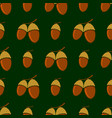 ripe acorn seamless pattern autumn oak nuts vector image vector image