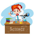 scientist working with science tools in lab vector image vector image