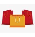 set bag gift shop icons vector image