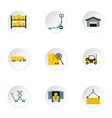 Shipping icons set flat style vector image vector image