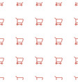 shopping cart icon pattern seamless white vector image vector image