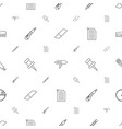 stationery icons pattern seamless white background vector image vector image