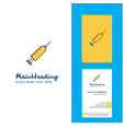 syringe creative logo and business card vertical vector image