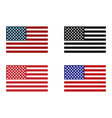 usa flag set of american flag vector image