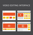 video editing software interface - media vector image vector image