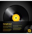 vinyl record panel vector image vector image